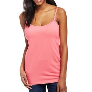 Motherhood Maternity ClipDown Nursing Cami Pink